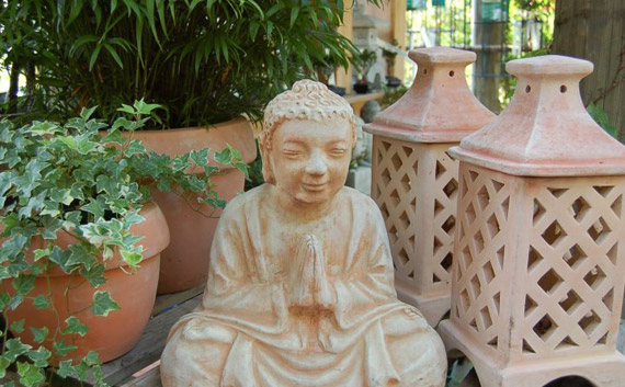 Terra Cotta Buddha and Lanterns